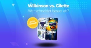 Rasierertest-Wilkinson-Gilette
